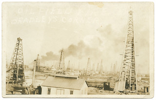 Oil Field Fire, Bradley's Corner Oil Field Fire, Bradley's Corner | by SMU Central University Libraries