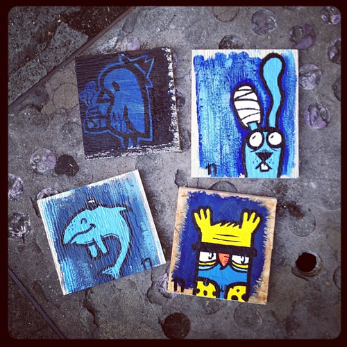4 lil minies painted tonight! | by n a r b o o