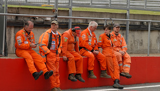 The Pit Lane Marshalls at Brands Hatch | by Puckpics