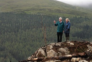 Agriculture Minister Michelle O'Neill takes in the scene at Moneyscalp Wood in County Down, with Forest Service Director of Forestry John Joe O'Boyle | by Northern Ireland Executive
