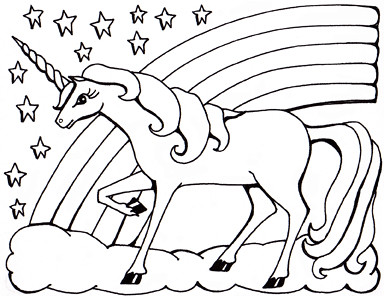 Colouring Sheet Unicorn Private Commission For A