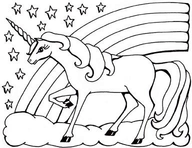 Colouring sheet unicorn Private