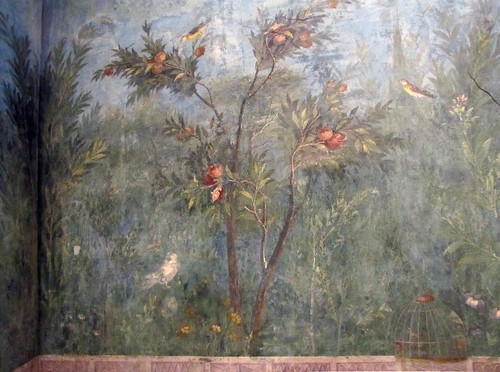Painted Garden Villa Of Livia Detail With Pomegranate Tr