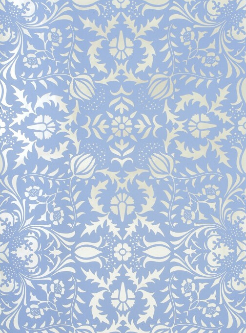 New Light Blue Silver Damask Wallpaper | Now available in the Li… | Flickr JQ16