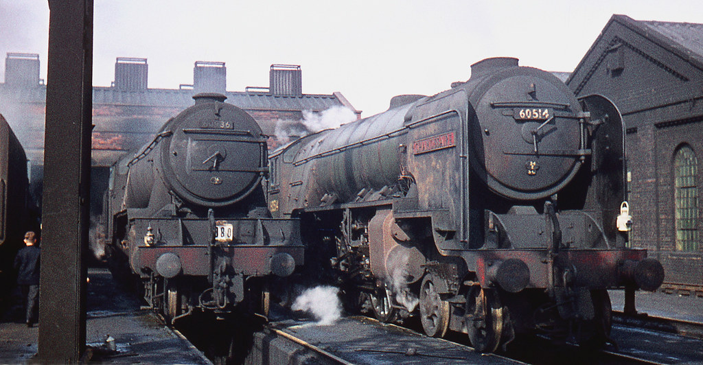 60936 And 60514 At New England Shed Peterborough September 1960
