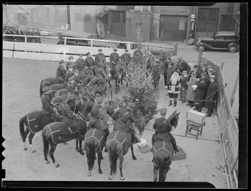 Boston mounted police with Saint Nick | by Boston Public Library