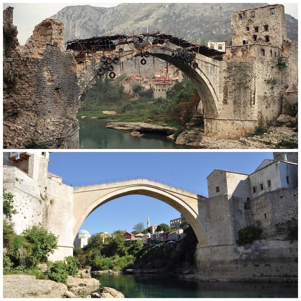 Slobodan Praljak Stari Most >> The Old Bridge At Mostar In Bosnia Then Now 1993 2 Flickr