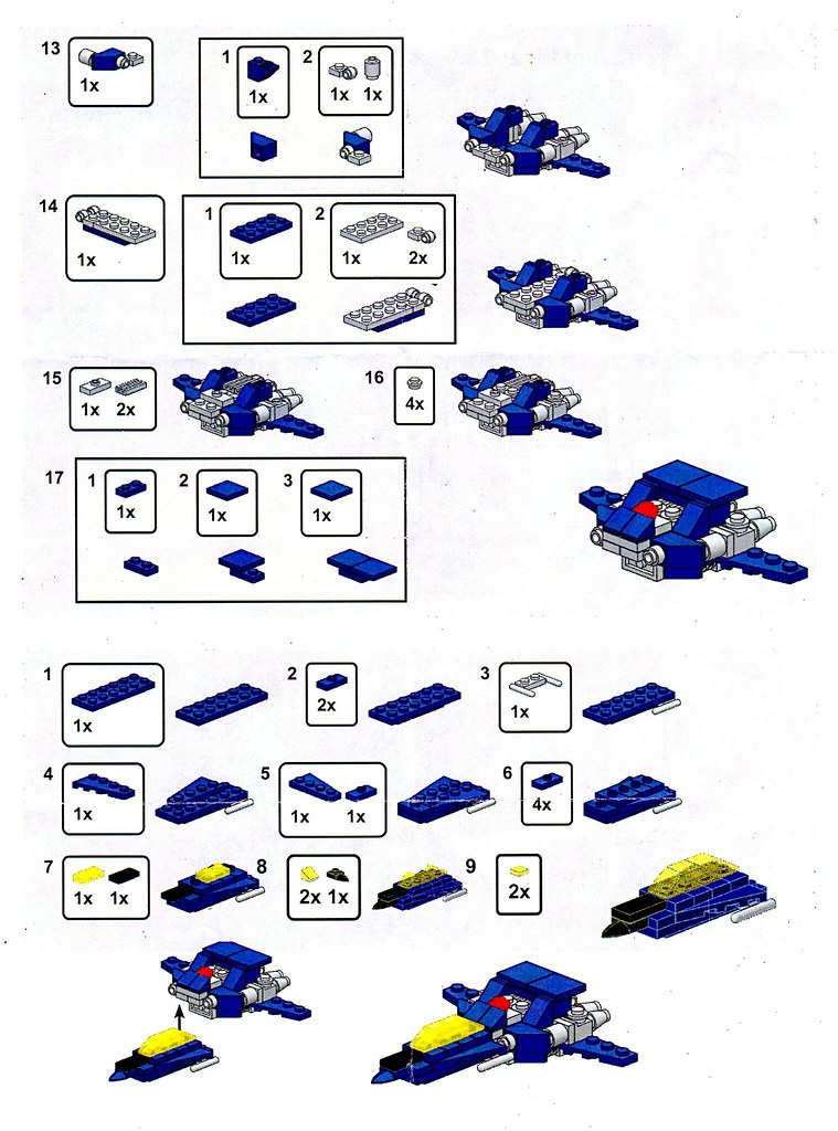 Brick Magic Mini Space Fighter Instructions Back Picked U Flickr