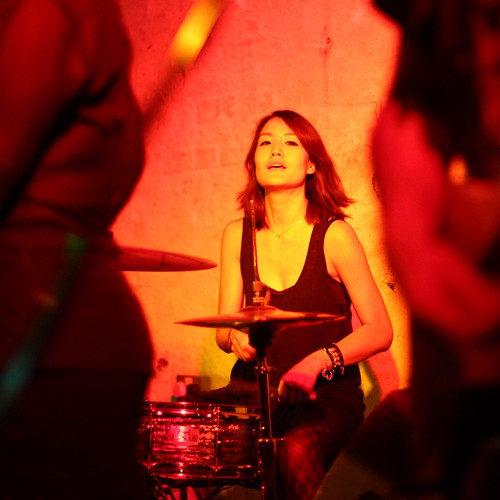 Gum's drummer at the Guts cassette launch at the Green Door Store 6/7/12 | by rob orchard