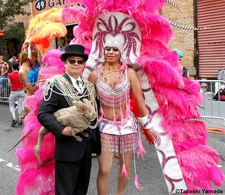 Seara (sea rabbit), Dr. Takeshi Yamada and festive parader at the New York City Gay Pride Parade in Manhattan, New York on June 24, 2012. 20120624 016. Rogue Gothic Steampunk Fashion vs Gay Fashion 2012. | by searapart13