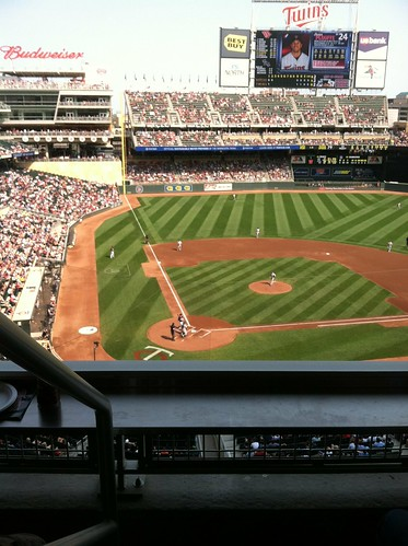 View of Target Field from the suite | by m01229