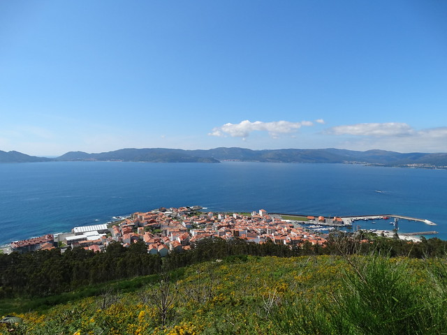 Porto do Son desde el mirador del monte Dordo