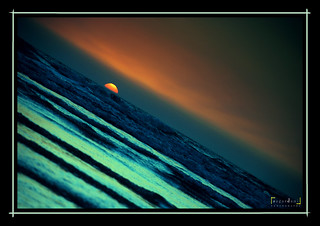 Just beyond the horizon... as it falls down, sun paints the sky gold ; oceans blue ~ | by SagarDani