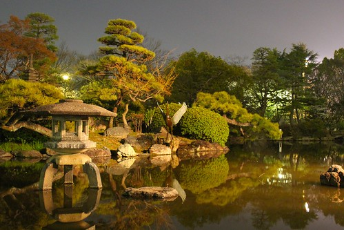 Japanese Garden At Night japanese garden at night | my brother actually captured this… | flickr