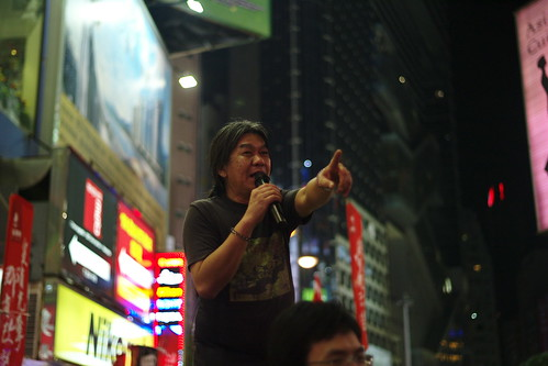 Kokhung-Leung, known as ''long hair'', a famous lawmaker and human right fighter in Hongkong。 | by wilsongoodest
