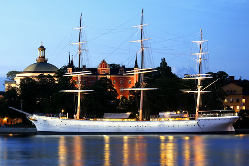 Anchored on a white night, Stockholm | by Dimitry B