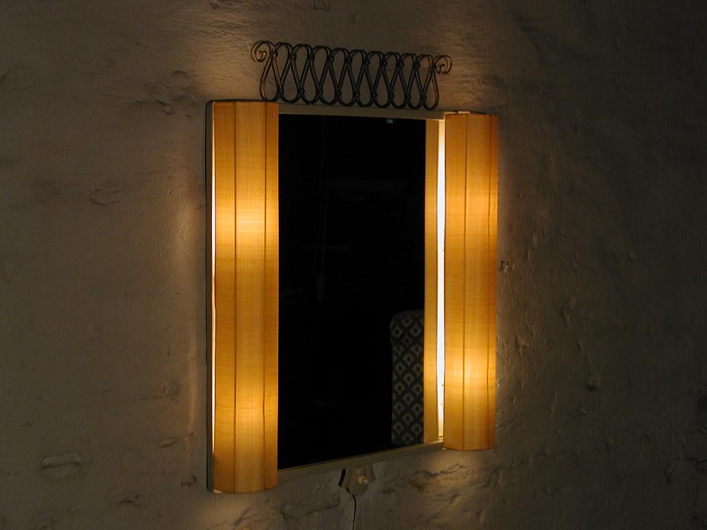 Vanity Wall Mirror 1940s 40s In style of Josef Frank Light… | Flickr