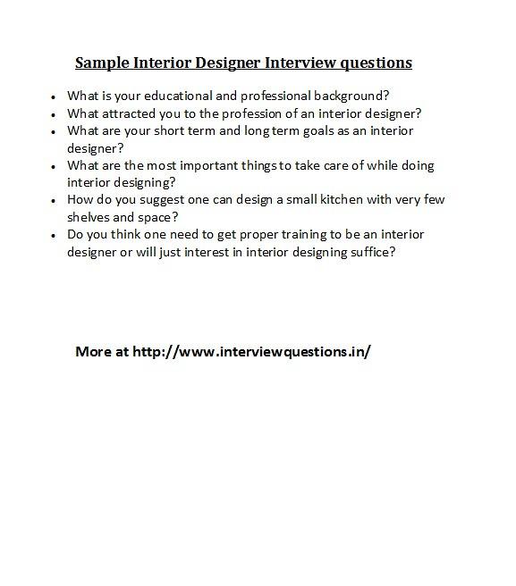 Superbe ... Sample Interior Designer Interview Questions | By Alansteve777