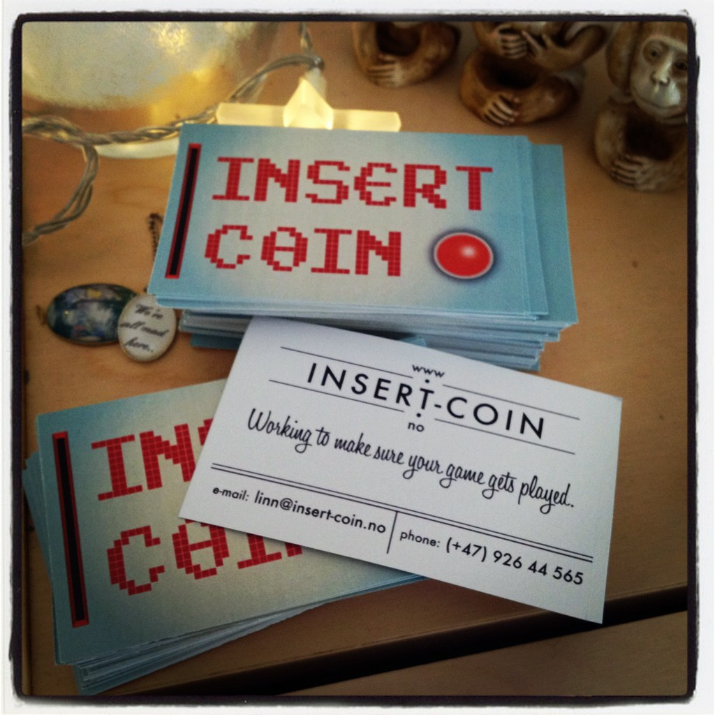 Insert Coin business cards | Off to Edinburgh Interactive an… | Flickr
