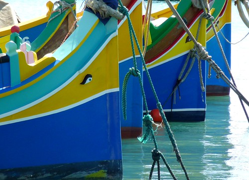 Boats in the harbour of Marsaxlokk, Malta | by Frans.Sellies