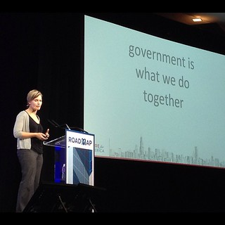 Jennifer Pahlka of @codeforamerica on redesigning the government user experience... #roadmapconf | by Kevin Krejci