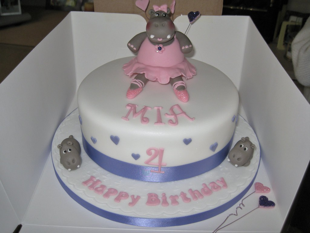 Ballerina Hippo Birthday Cake Mia Loves Hippos And Ballet Flickr