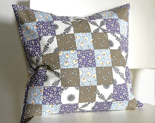 patchwork quilt block pillow cover | by Heidi Miller Hirtle
