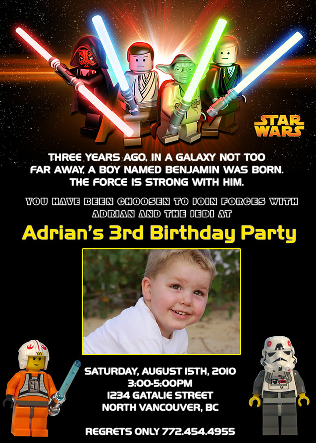 Starwars Custom Birthday Invitation