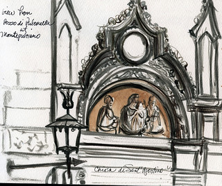 Tuscany sketchbook: Montepulciano church | by Laura Frankstone
