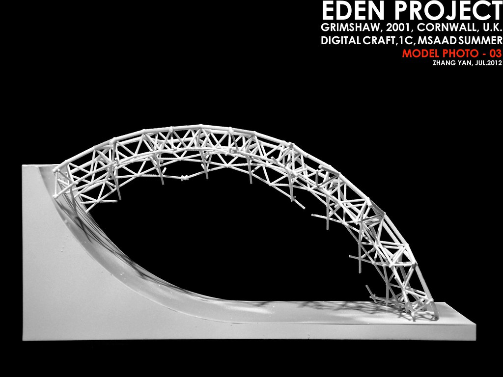 3D Print Model Of Eden Project