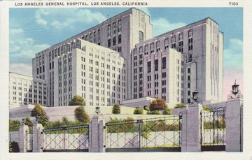 Los angeles central hospital postcard from the la history flickr los angeles central hospital by the studio for southern california history sciox Image collections