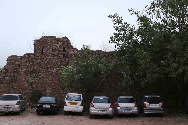 This is Illegal Encroachment by Historian William Dalrymple's Imported Cars