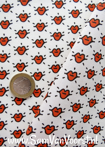 Kiss miniture Fabric Design made by me. | by SamVanVoorst