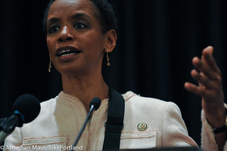 Rep Donna Edwards at opening plenary-2-2 | by BikePortland.org