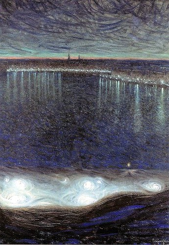 Jansson, Eugene (1862-1915) - 1899 Dawn over Riddarfjarden (National Museum, Stockholm, Sweden) | by RasMarley