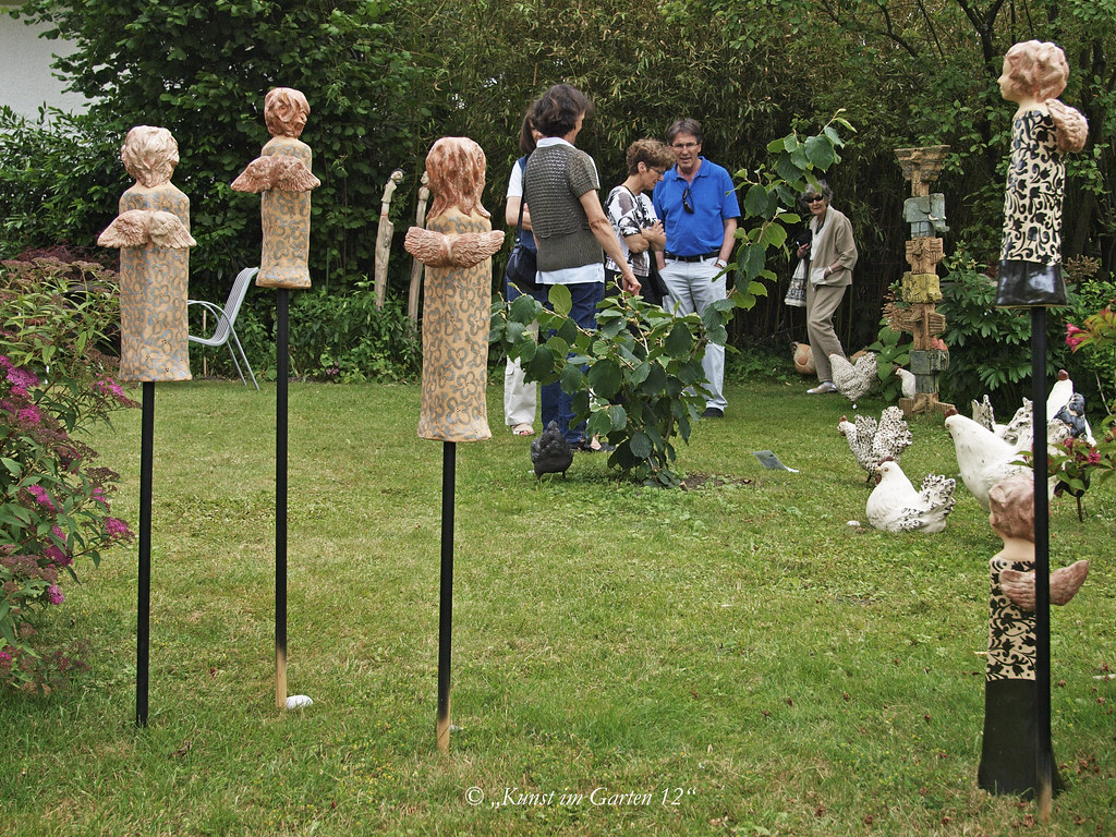 Engel - Keramik, Garten Fiechter, ©Keramik Christine Baumg… | Flickr
