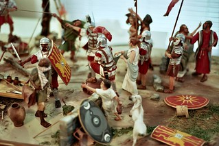Closeup Overview of added 1:12 scale figurines -The Mark At Calvary | by caseships