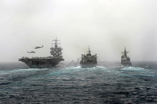 The enterprise Carrier Strike Group refuels. | by Official U.S. Navy Imagery