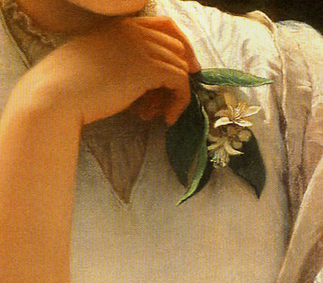 Charles Edward Perugini 'Girl Reading' or 'A Fair Student' (detail) 1878 | by Plum leaves