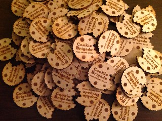 Cookie Brigade laser cut buttons | by Hypatia_PA