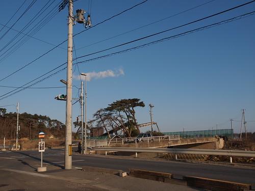 仙石線野蒜駅前
