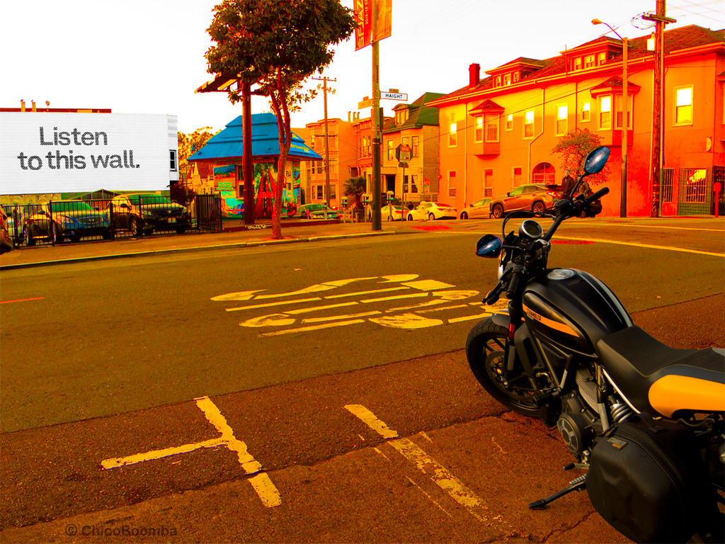 on haight st. in san francisco with the ducati scrambler (… | flickr