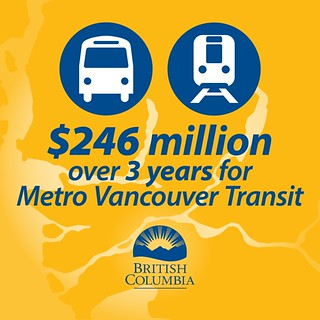 BC funding one third of Metro Vancouver transit improvements | by BC Gov Photos