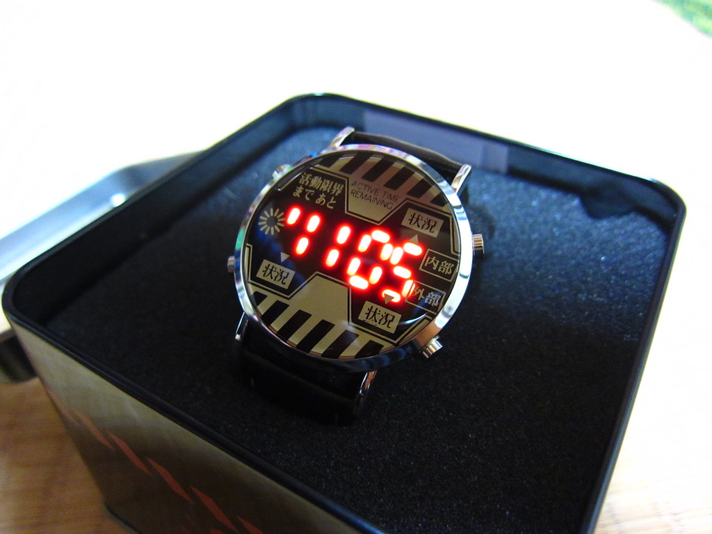 neon genesis evangelion watch led time i got this awesom flickr