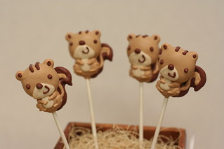 Squirrel Cake Pops | by Sweet Lauren Cakes