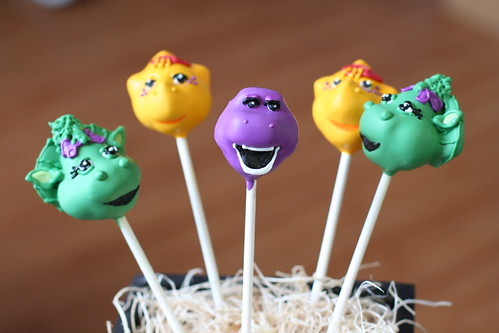 Barney and Friends Cake Pops | by Sweet Lauren Cakes