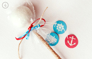 DIY Nautical Cake Pop Favors | by Sweet Lauren Cakes