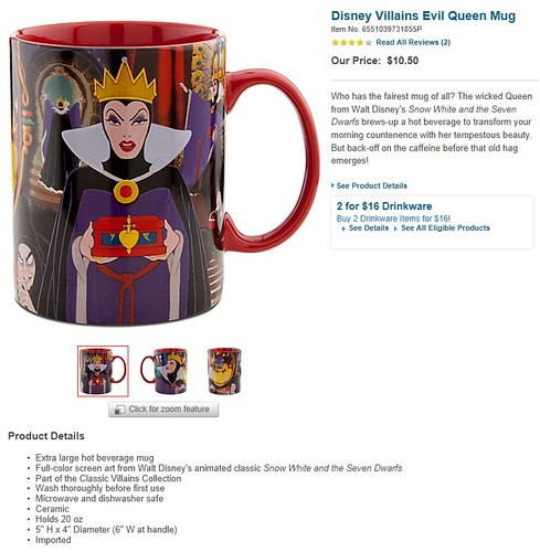 Disney Villains Evil Queen Mug - Product Page Screenshot - 2012-06-29 | by drj1828