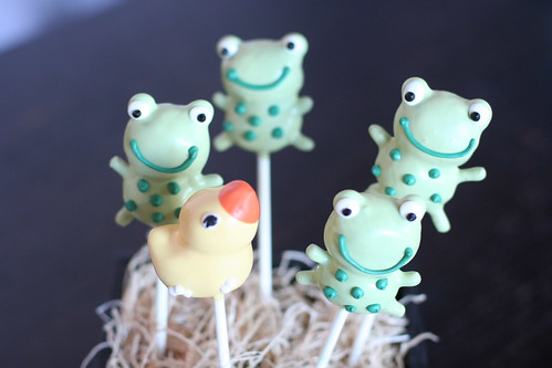Baby Duck and Frog Cake Pops | by Sweet Lauren Cakes
