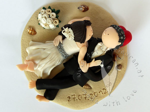 Kuschelndes Brautpaar Tortenfiguren Flickr